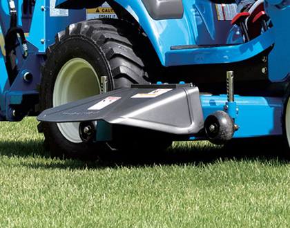 Excellent mower ground clearance